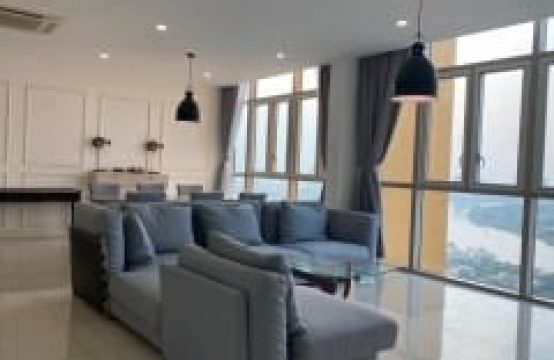 4 Bedrooms Apartment For Rent In Vista An Phu, Superb View To River, Semi-Furnished.