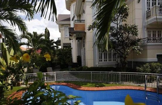 Generous 5 Bedrooms Villa For Rent In Thao Dien, Private Pool And Garden