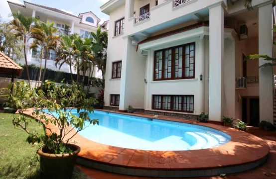 Villa With Garden And Pool In Compound Thao Dien For Rent
