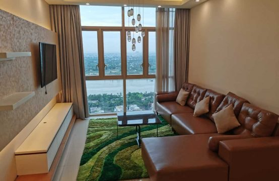 Charming High Floor 2 Beds Apartment Facing To Saigon River At Vista An Phu